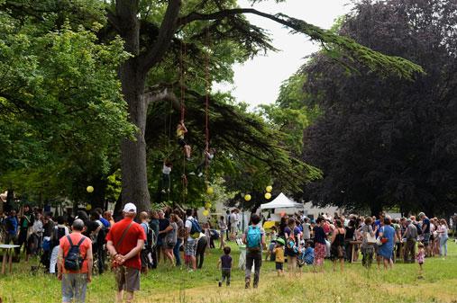 Premièreédition de Notes en vertà Périgny (17), éco-festival nature, ludique et musical cocréé par Léa Nature et sa Fondation, l'association Mondomélodie et la ville de Périgny.
