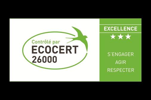 Contrôle externe de notre démarche RSE : évaluation ECOCERT 26000 niveau Excellence (3 étoiles)